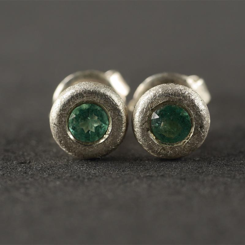(18007) Ohrstecker Smaragd