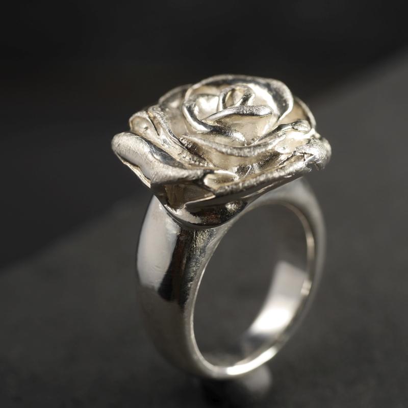 """(16026) Silberring """"Rose groß"""""""